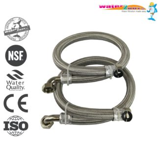 """Stainless Steel Braided Hoses 1"""" (28mm) For Water Softeners & Water Filtration"""